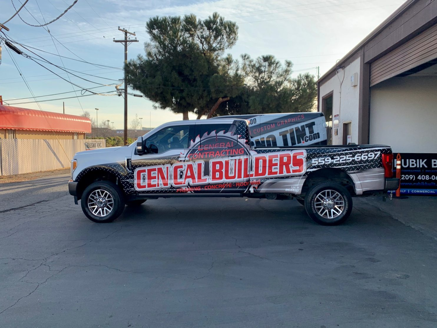 Fresno Tint Helps Cen Cal Builders With Vehicle Wraps and Signage - Vehicle Wraps and Graphics in the Fresno, California area